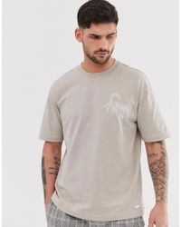 BOSS Gray Timesnr Rubberised Scorpion T-shirt for men