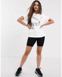 T-shirt classique à logo PUMA en coloris White
