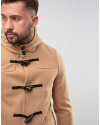 ASOS - Multicolor Wool Mix Duffle Coat In Camel for Men - Lyst