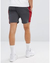 11 Degrees - Shorts In Gray With Stripe for Men - Lyst