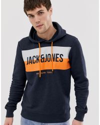 Jack and Jones Core - Felpa con logo di Jack & Jones in Blue da Uomo