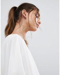 ALDO - Metallic Cuwien Oversized Star Hoop Earrings - Lyst