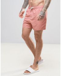 Another Influence 3 Pocket Solid Swim Shorts In Dusky Pink for men