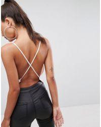 ASOS - Pink Backless Cowl Neck Top - Lyst