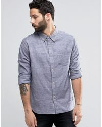 Bellfield - Blue Printed Check Shirt With Double Pocket for Men - Lyst