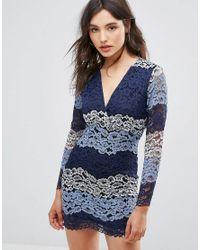 Vestito multicolore in pizzo di Oeuvre in Blue