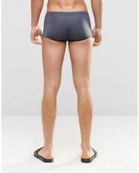 ASOS - Blue Swim Hipster Trunks In Gray for Men - Lyst