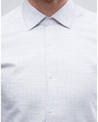 Reiss Gray Slim Smart Shirt for men