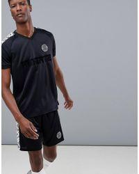 T-shirt da calcio nera ad asciugatura rapida di ASOS 4505 in Black da Uomo