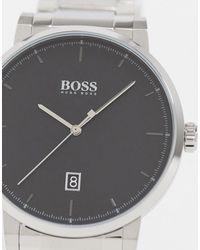 Серебристые Часы-браслет 1513792-серебряный BOSS by Hugo Boss для него, цвет: Metallic