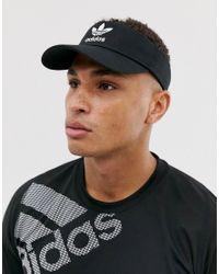 Adidas Originals Visor-Sonnenbrillenkappe in Schwarz in Black für Herren