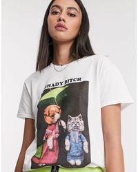 New Girl Order White Shady Oversized T-shirt