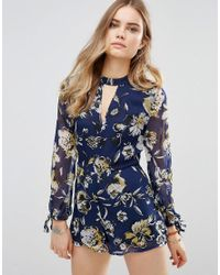 Band Of Gypsies - Blue Tiger Playsuit - Lyst