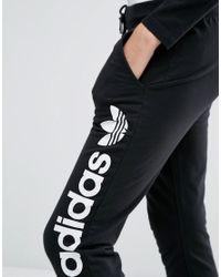 Adidas Originals Black Originals Sweat Pants With Oversized Logo