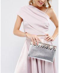 Miss Kg Halo Metallic Clutch Bag