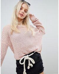 Hollister Pink Oversized Knit