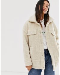 ONLY Natural Oversized Teddy Trucker Jacket