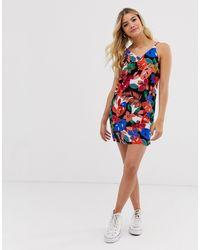Vestito con spalline sottili a fiori multi di Pimkie in Multicolor