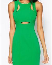 ASOS - Green Peekaboo Dress - Lyst