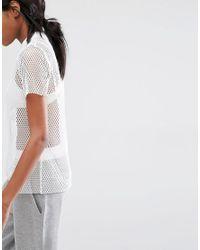 Missguided White Mesh T-shirt
