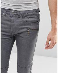 Loyalty & Faith Zip Pocket Skinny Jean Gray Wash for men