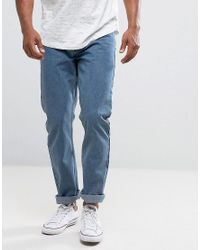 Loyalty & Faith Blue Loyalty And Faith Straight Fit Konfer Jeans In Stone Wash for men