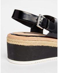 Pull&Bear - Black Platform Sandal - Lyst