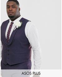 ASOS Multicolor Plus Wedding Skinny Suit Waistcoat for men