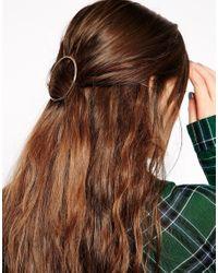 ASOS   Metallic Circle Hair Brooch   Lyst