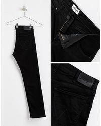 Jeans super skinny neri di Wrangler in Black da Uomo