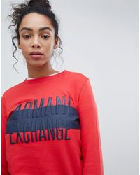 Armani Exchange - Red Embossed Matte Logo Sweat - Lyst