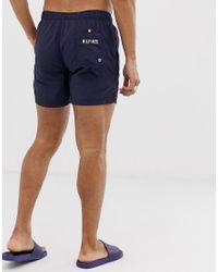 Short de bain court avec cordon de serrage Tommy Hilfiger pour homme en coloris Blue
