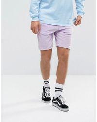 Antioch Purple Velour Shorts for men