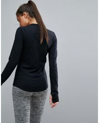 Mango - Black Long Sleeve Sports Top - Lyst