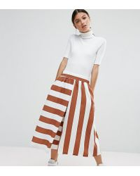 ASOS Multicolor Mixed Stripe Culotte Trousers