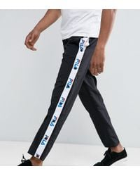 Fila Fila Black Joggers With Logo Taping Exclusive To Asos for men
