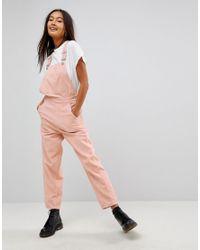 sélection premium b0f1b 64155 Salopette en velours côtelé Jean ASOS en coloris Rose - Lyst