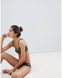 Calvin Klein Gray Bandeau Bikini Top