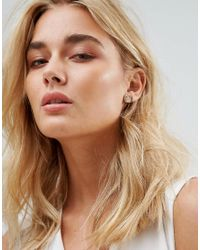 Michael Kors - Metallic Rose Gold Circle Stud Earrings - Lyst