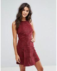 Rage Red Corduroy A-line Dress