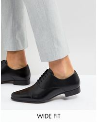 ASOS Black Asos Wide Fit Oxford Shoes for men