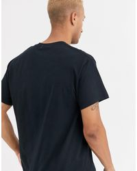 Camiseta con estampado illusion Topman de hombre de color Black