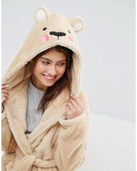 ASOS Brown Teddy Bear Robe