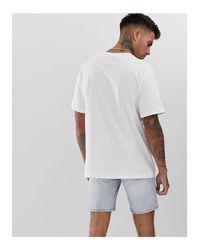 Breakfast Club - T-shirt bianca di Pull&Bear in White da Uomo