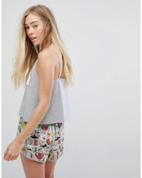 Monki Multicolor Fried Egg Pajama Set