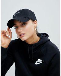 Cappellino nero con logo di Nike in Black