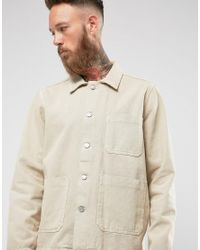 Weekday Natural Generic Denim Jacket Sand for men