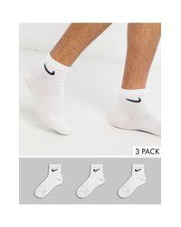 Набор Из 3 Пар Белых Носков До Щиколотки -белый Nike для него, цвет: White