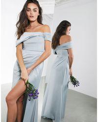 Vestido largo ASOS de color Blue