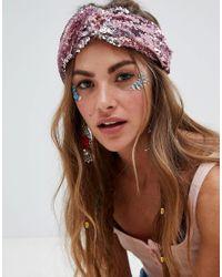 Missguided Pink Sequin Headband